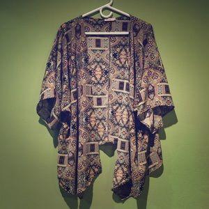 Bohemian Kimono Sweater/Coverup